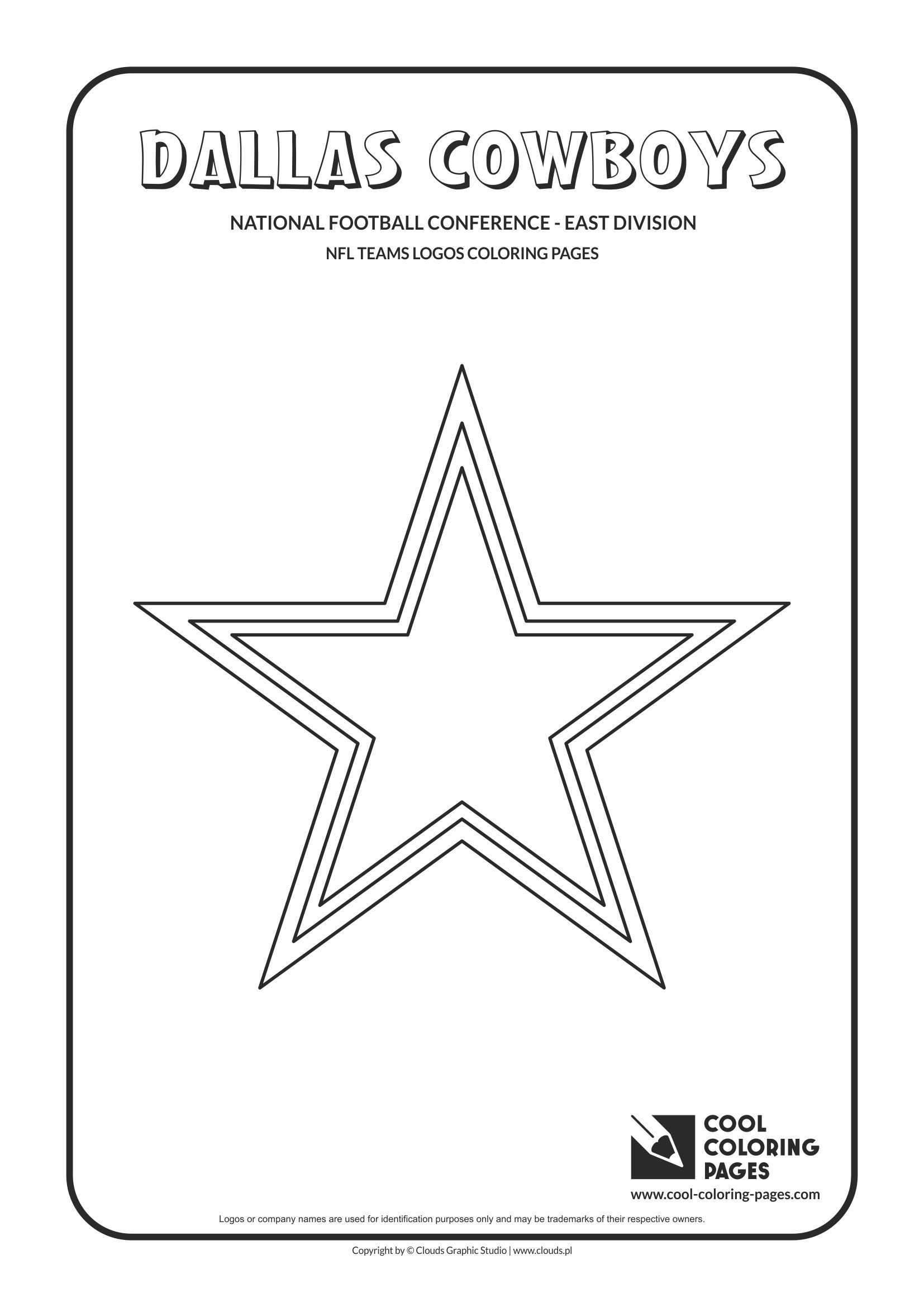 Dallas Cowboys Coloring Pages  to Print 1j - To print for your project