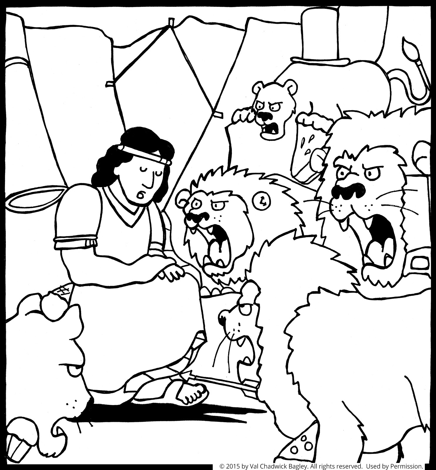Daniel and the Lions Den Coloring Pages  Download 12h - Free For Children