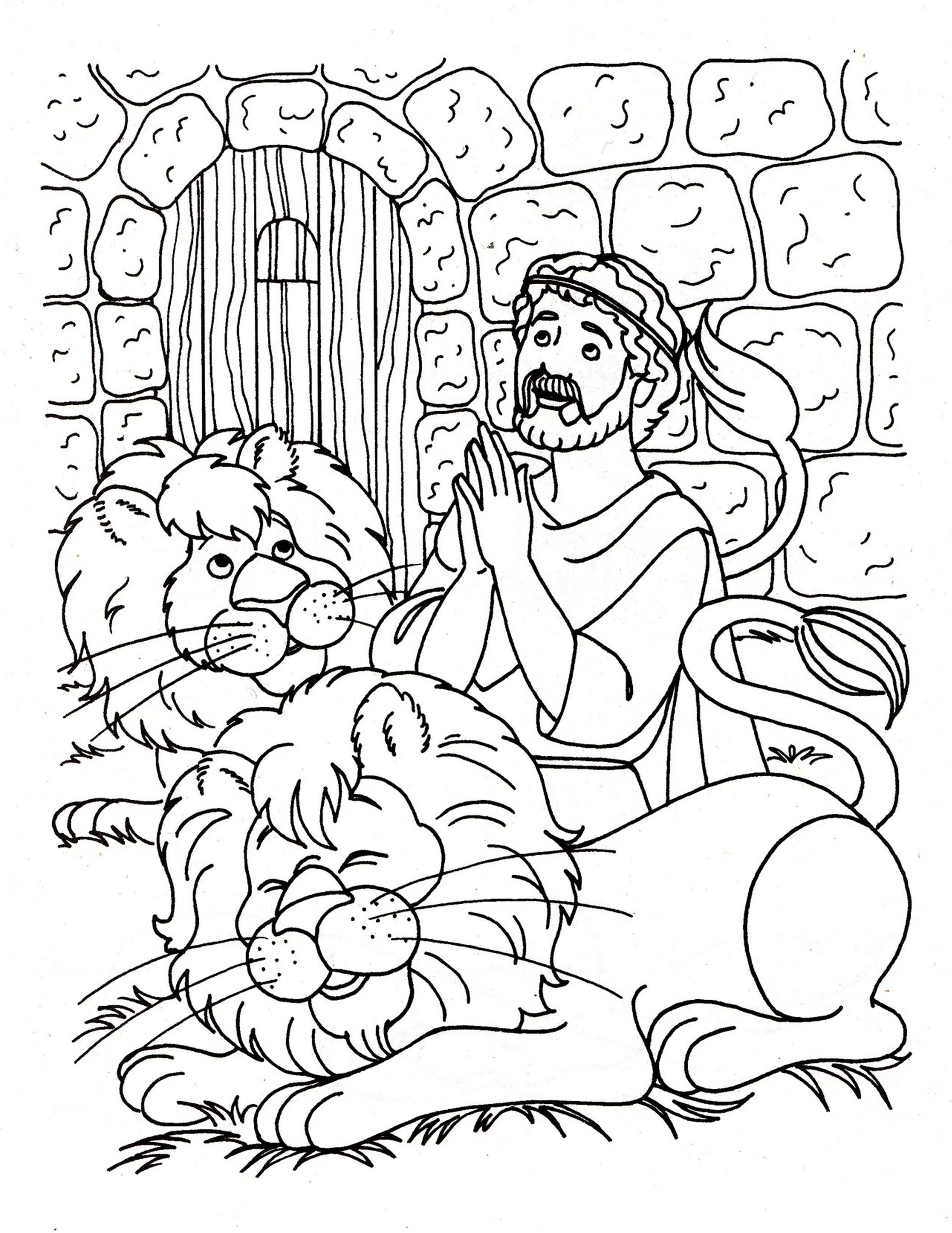 Daniel and the Lions Den Coloring Pages  Download 19i - Free For kids