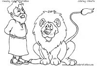 Daniel and the Lions Den Coloring Pages - Free Christian Coloring Pages for Young and Old Children