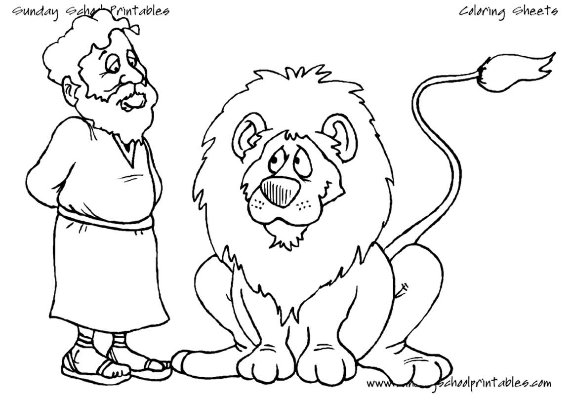 Daniel and the Lions Den Coloring Pages  Download 7c - Free Download