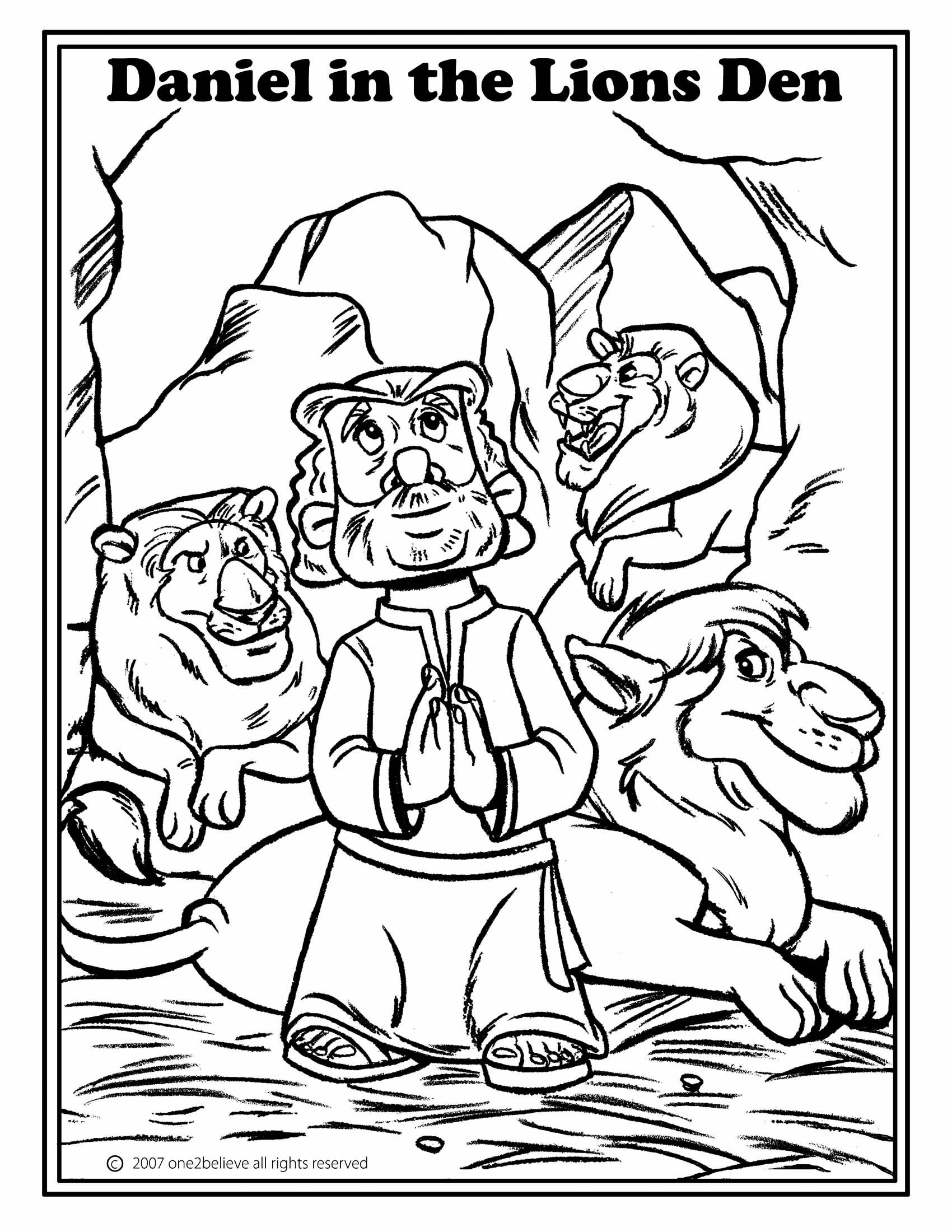 Daniel Coloring Pages Bible  Gallery 15i - Free Download