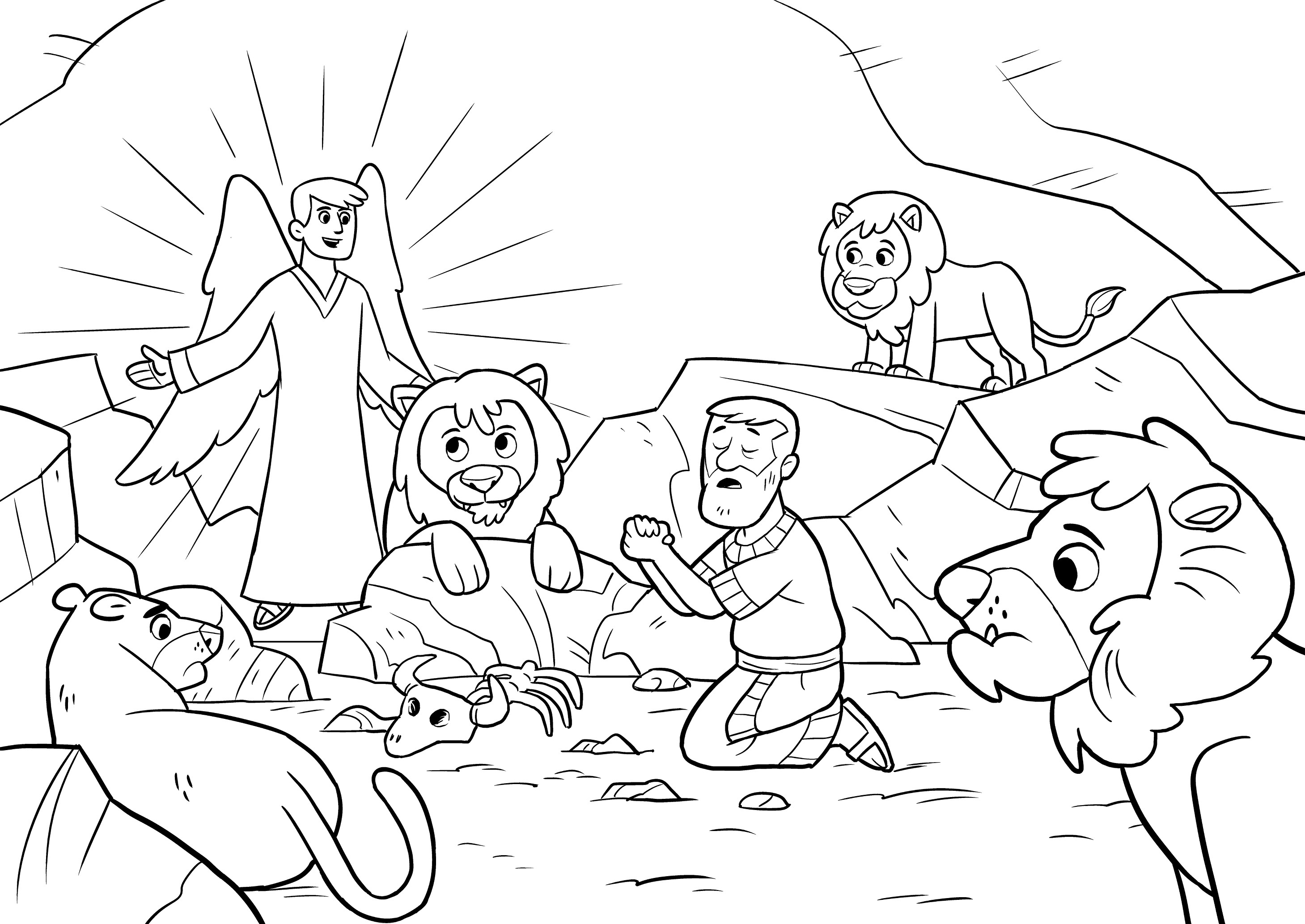 Daniel Coloring Pages Bible  Gallery 4h - To print for your project