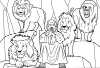 Daniel Coloring Pages Bible - Daniel and the Lions Den Coloring Pages
