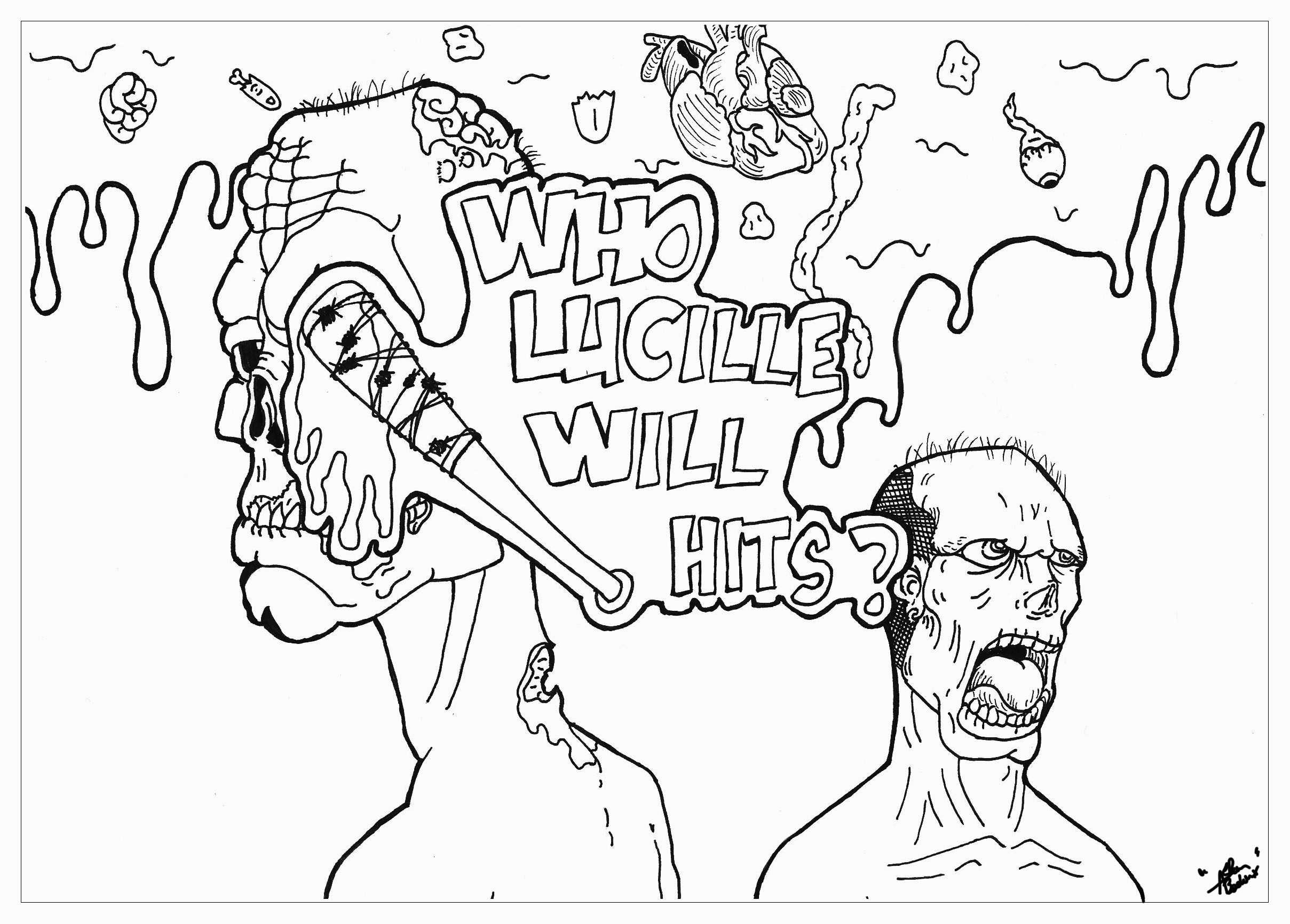 Death Coloring Pages  Collection 3k - Save it to your computer
