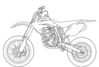 Dirt Bike Coloring Pages - How to Draw Dirt Bike Gear