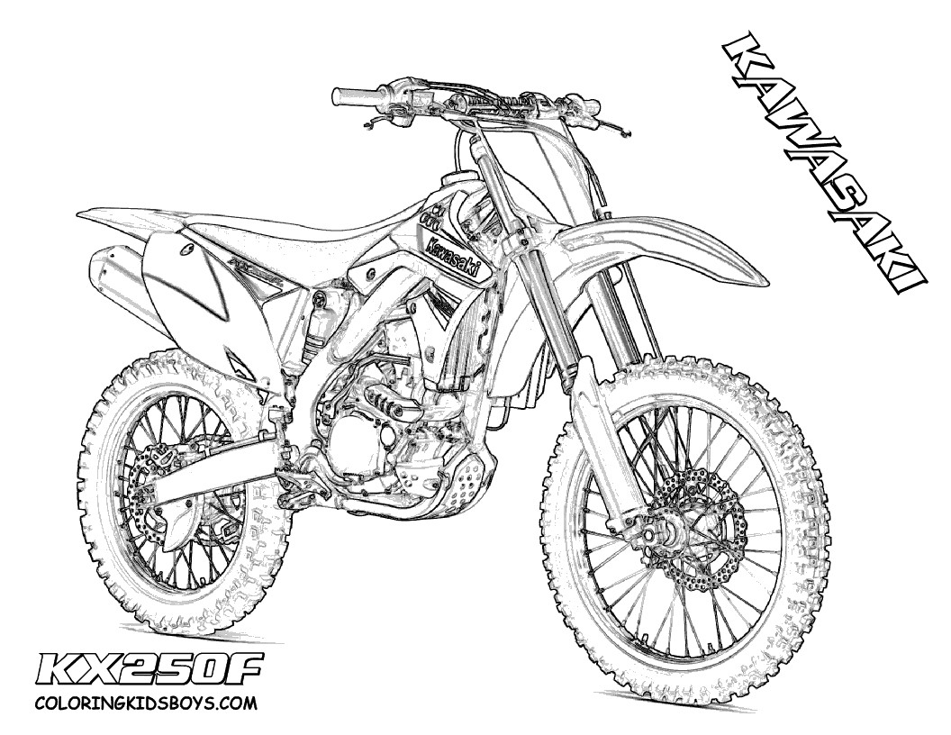 Dirt Bike Coloring Pages  Download 15g - Free For Children