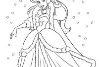 Disney Coloring Pages Pocahontas - Ariel Playing In the Snow Ariel Winter Christmas
