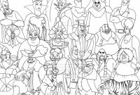 Disney Villains Coloring Pages - Disney Villain Coloring Pages 28 with Disney Villain Coloring Pages