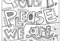 Doodle Art Coloring Pages - Quiet Please We are Testing Testing Signs for the Classroom