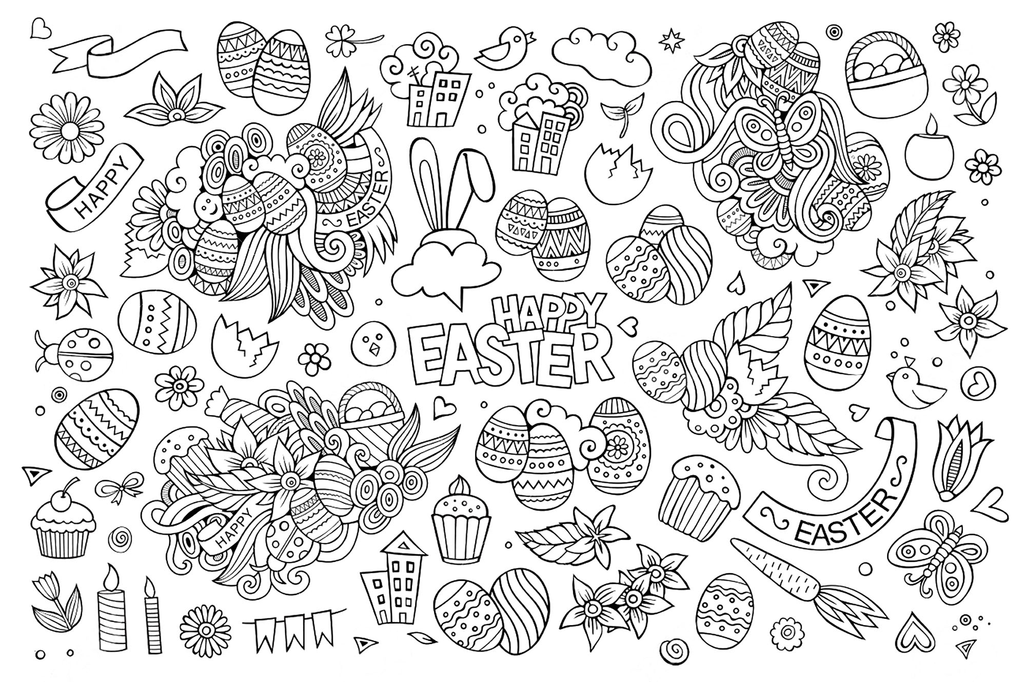 Doodle Art Coloring Pages  to Print 12q - To print for your project