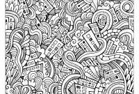 Doodle Coloring Pages - Weird Doodle City by Olga Kotsenko source 123rf From the