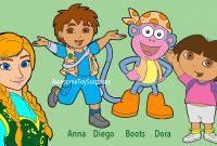 Dora and Friends Coloring Pages - Dora the Explorer Disney Frozen Anna Coloring Page Fun Coloring