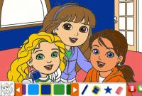 Dora and Friends Coloring Pages - Dora the Explorer Dora Naiya and Kate Dora and Friends