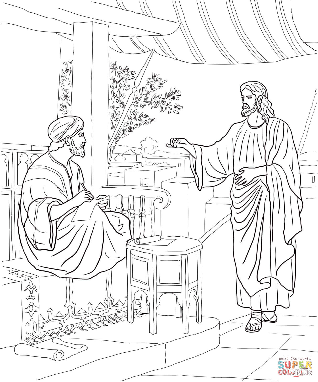 Doubting Thomas Coloring Pages  Gallery 1s - To print for your project