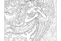 Dover Publications Coloring Pages - Angel with Dove Beautiful Angels Coloring Book