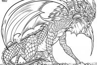 "Dragon Coloring Book Pages - From ""dragon Life"" Adult Coloring Book by Nathaniel Wake"