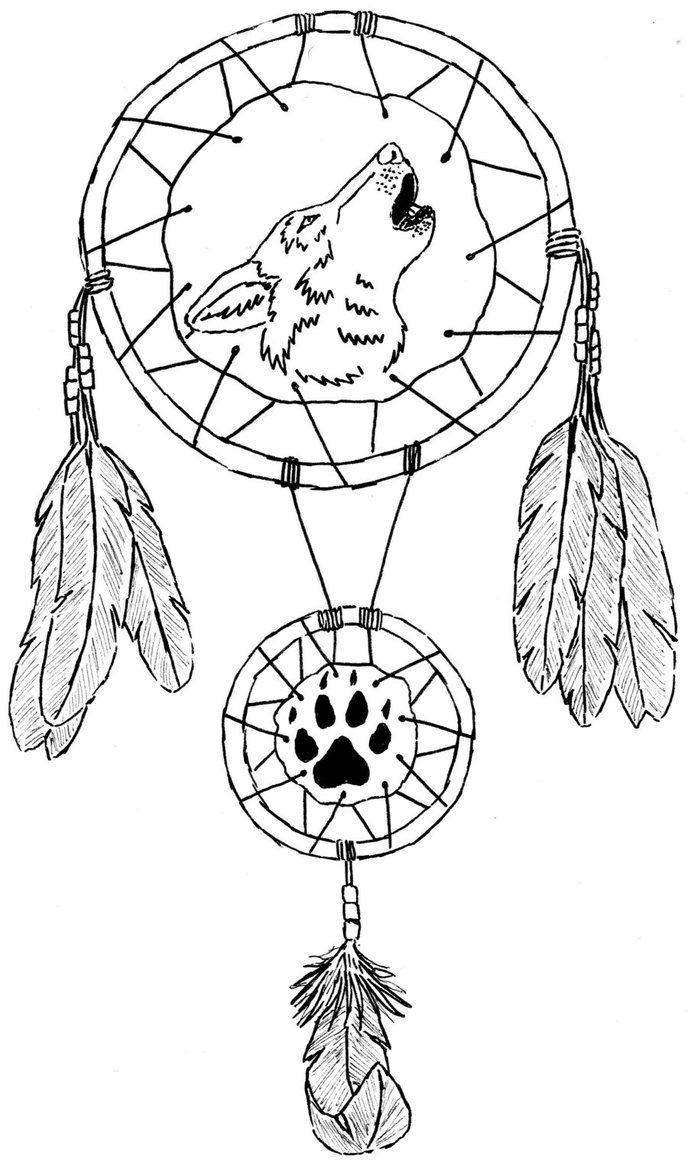 Dream Catcher Coloring Pages  Printable 20g - Free For kids