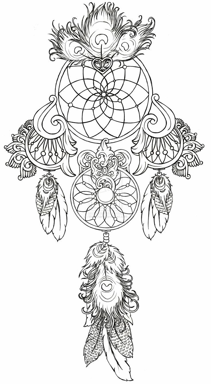 Dream Catcher Coloring Pages  Printable 1g - Free For kids