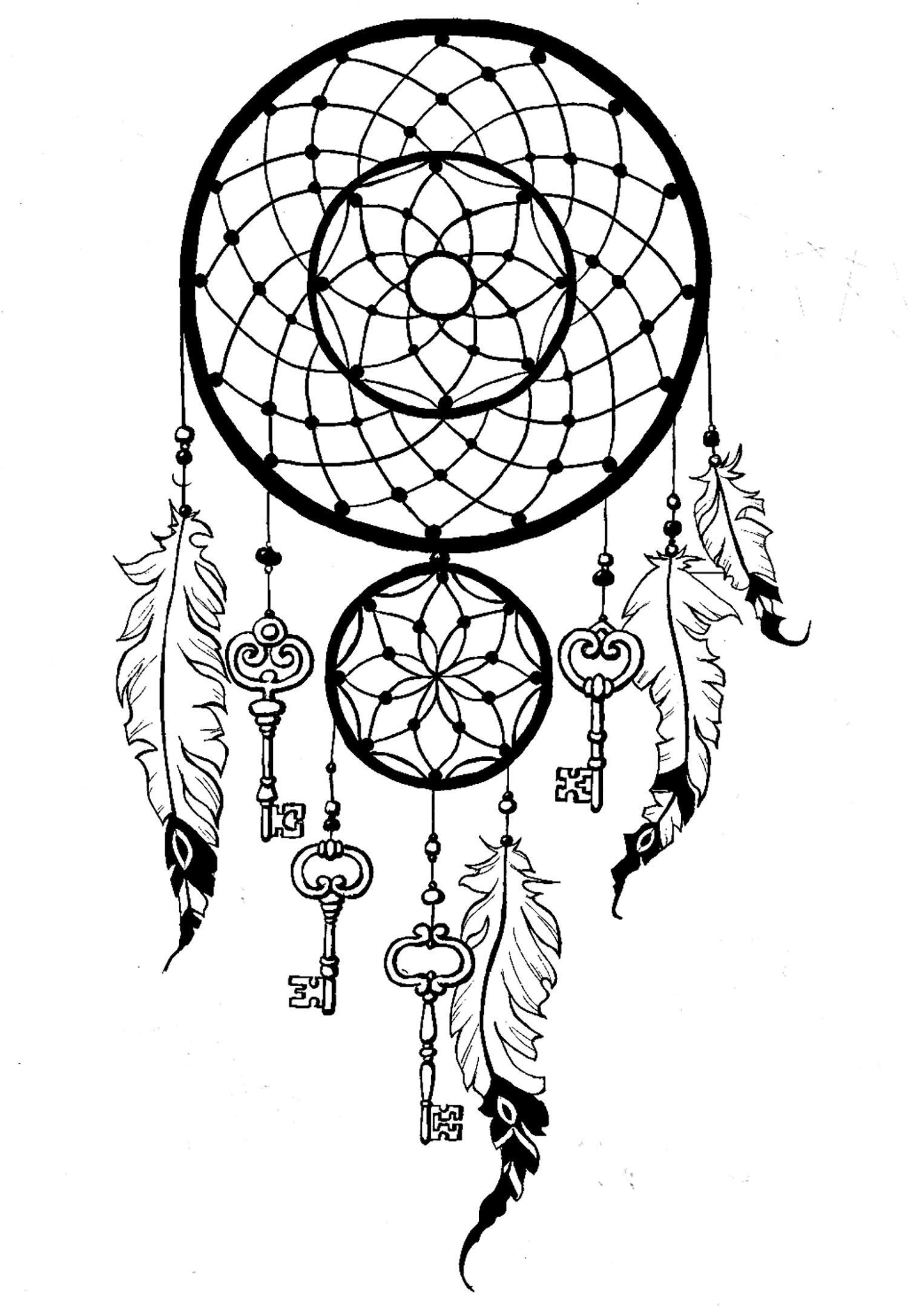 Dream Catcher Coloring Pages  Printable 11i - To print for your project