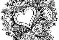Easy Paisley Coloring Pages - 20 Free Printable Valentines Adult Coloring Pages