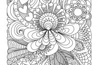 Easy Paisley Coloring Pages - Abstract Doodle Coloring Pages Colouring Adult Detailed Advanced