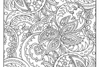 Easy Paisley Coloring Pages - Adult Coloring Pages to Print to and Print for Free