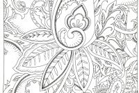 Easy Paisley Coloring Pages - Awesome Flower Mandalacoloring Adult – Doyanqq