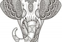 Easy Paisley Coloring Pages - Coloring Pages to Print for Adults Luxury Elephant Abstract Doodle