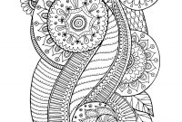 Easy Paisley Coloring Pages - Free Coloring Page Coloring Zen Antistress Abstract Pattern Inspired