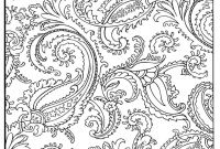 Easy Paisley Coloring Pages - Paisley Pattern Coloring Pages