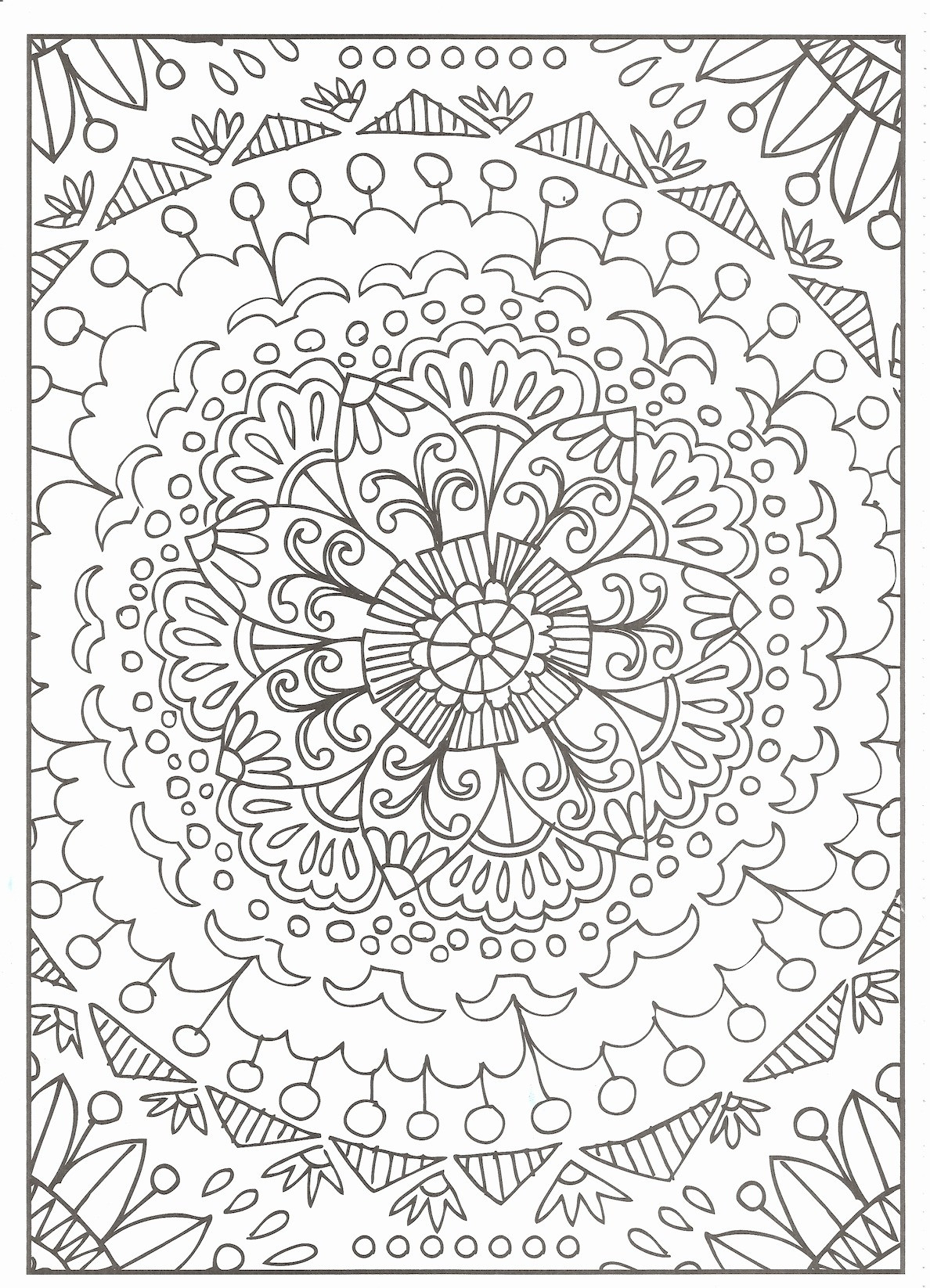 Easy Paisley Coloring Pages  to Print 20a - Free For Children
