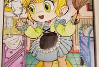 Edgar Allan Poe Coloring Pages - Chibi Girls 2 by Jade Summer Colored by Daphné Loudoux View Our