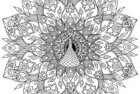 Edgar Allan Poe Coloring Pages - Hand Drawn Peacock Mandala Colouring Page by Welshpixie On