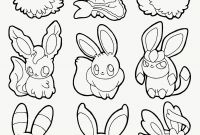 Eevee Coloring Pages to Print - Pokemon Coloriage Joli Pokemon Eevee Evolutions Coloring Pages Free