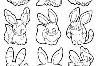 Eevee Coloring Pages to Print - Pokemon Eevee Coloring Pages Coloriage Pokemon Eevee Evolutions List