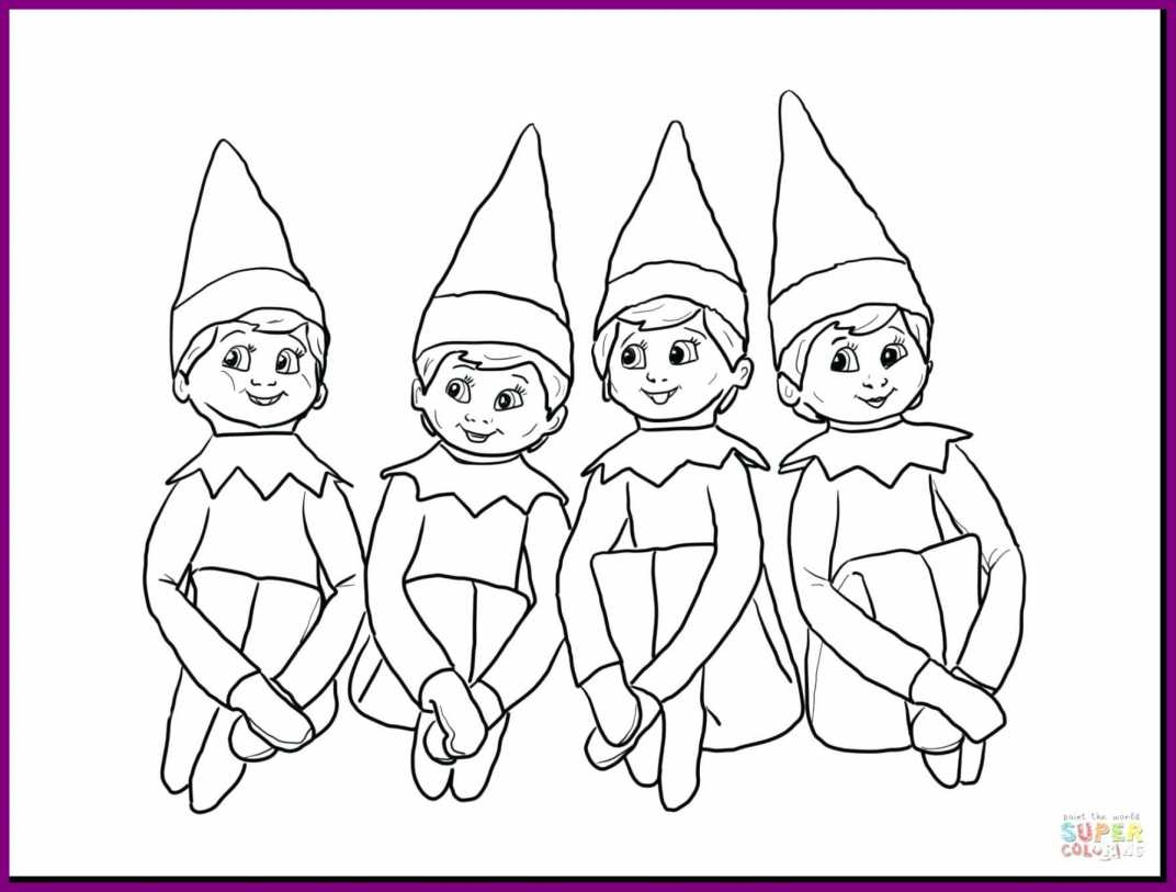 Elf Coloring Pages Printable  Download 2r - To print for your project
