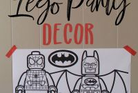 Engineering Coloring Pages - Easy & Cheap Lego Party Decor and Big Coloring Pages Tutorial