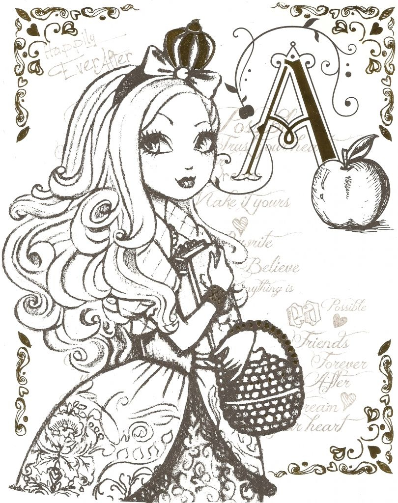 Ever after High Coloring Pages  Printable 5h - Free For Children