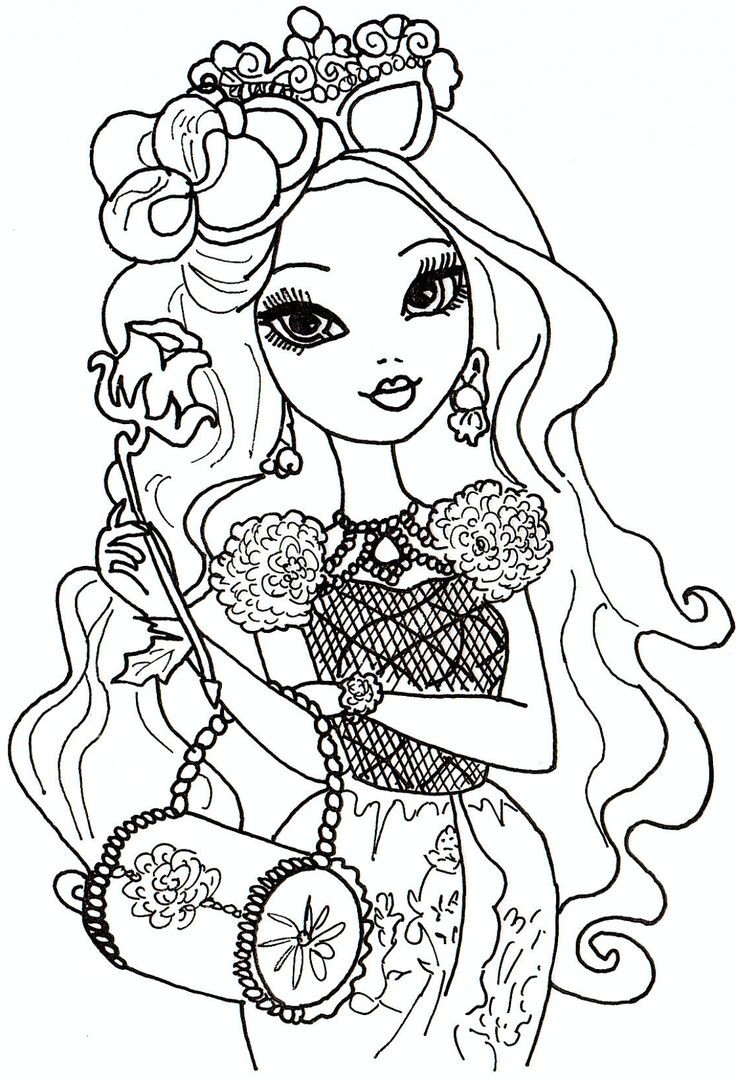 Ever after High Coloring Pages  Printable 4g - Save it to your computer