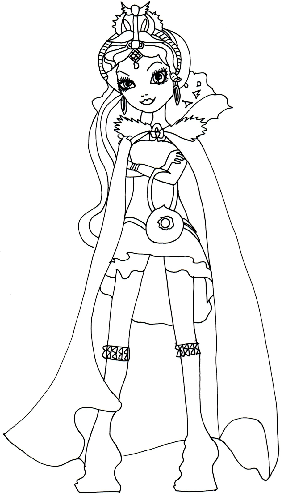 Ever after High Coloring Pages  Printable 19c - To print for your project