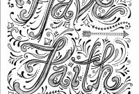 Faith Coloring Pages - Instant Download Faith Coloring Page by Chubbymermaid On Etsy