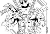 Fallout Coloring Pages - Deadpool Coloring Pages Printabl… Deadpool Coloring