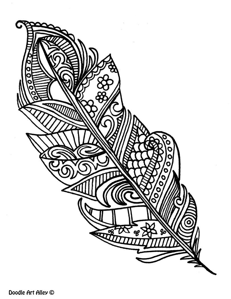 Feathers Coloring Pages  Printable 13j - Save it to your computer