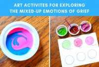 Feelings Coloring Pages for Preschoolers - Exploring the Mixed Up Emotions Of Grief Art Activities for Kids