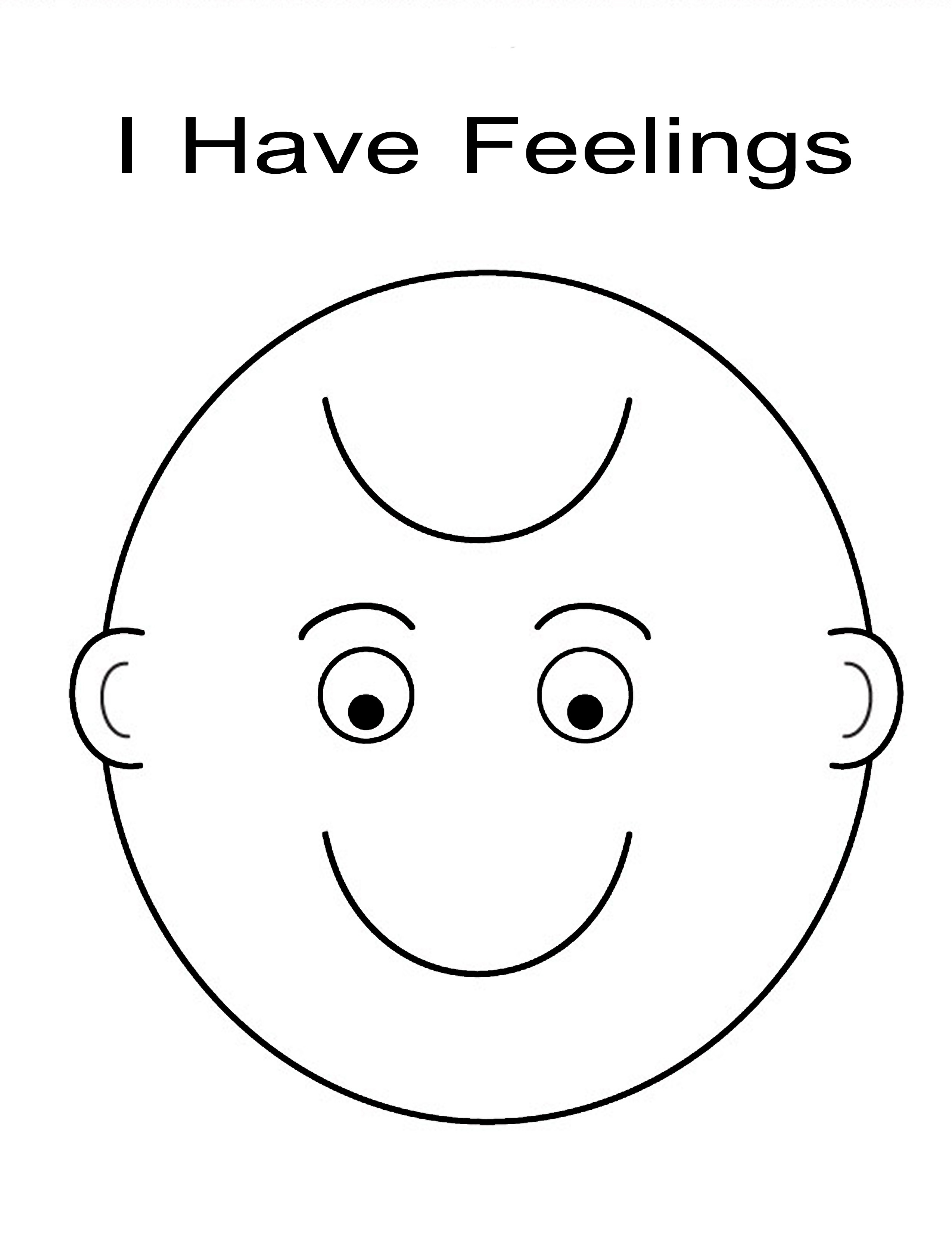 Feelings Coloring Pages for Preschoolers  Download 12a - Free For Children