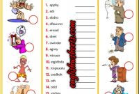 Feelings Coloring Pages for Preschoolers - Feelings Emotions Esl Printable Unscramble the Words Worksheets for
