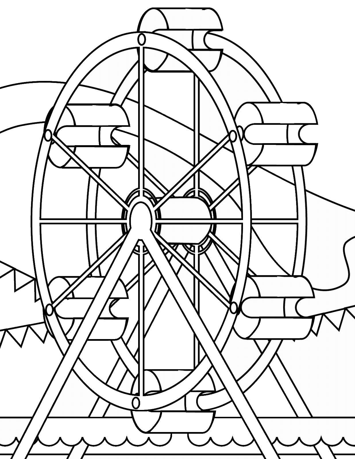 Ferris Wheel Coloring Pages  to Print 5r - Free For Children