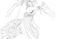 Final Fantasy Coloring Pages - Yuna Sending by Cloudberg On Deviantart