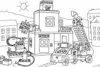 Fire Department Coloring Pages - Dinosaur Eating Leaves Coloring Page